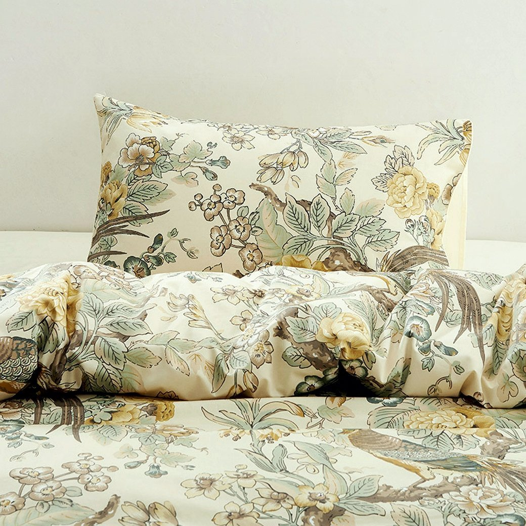 Chinoiserie Chic Peacock Duvet Cover Set Eikei
