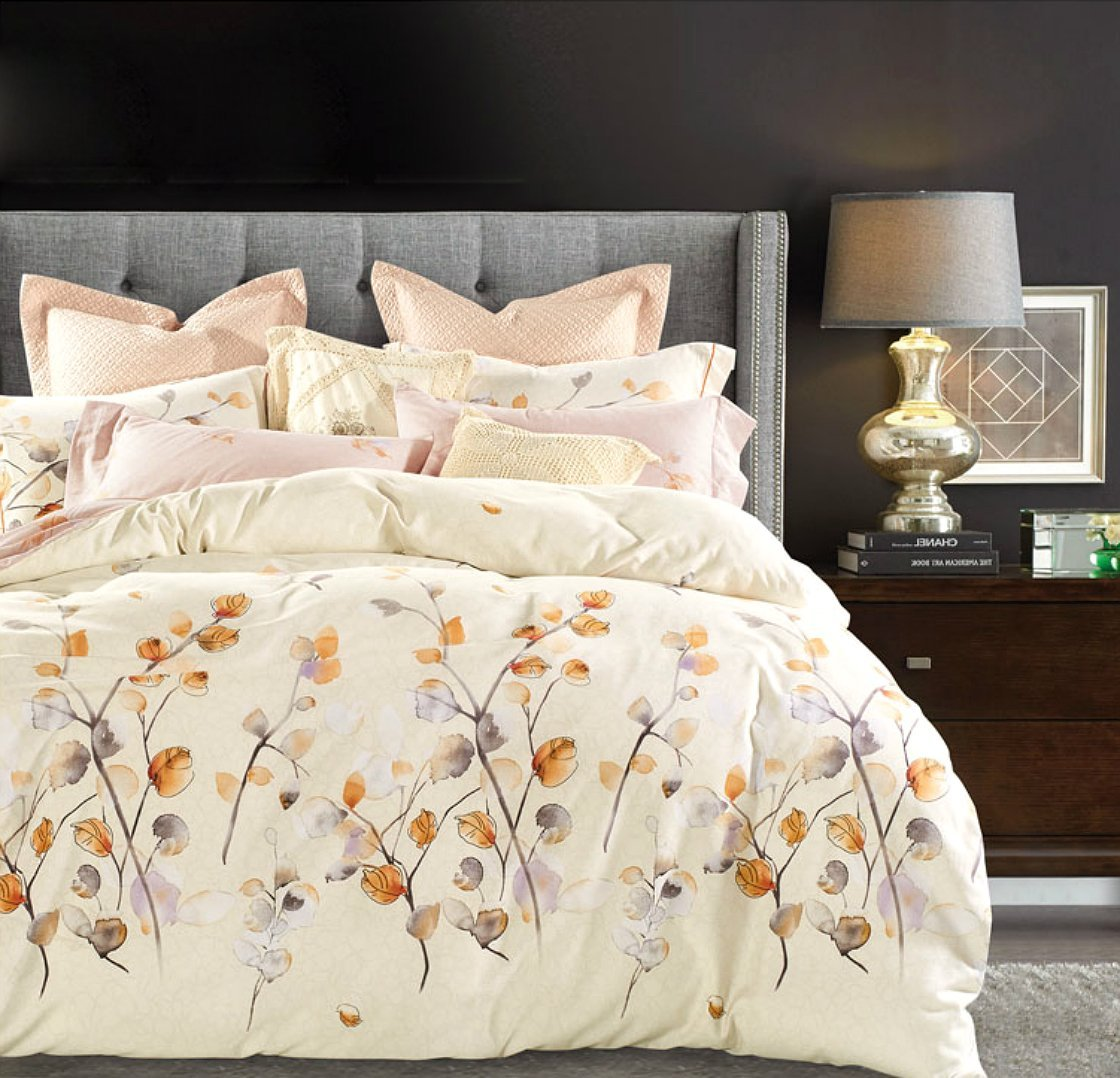 Watercolor Autumn Leaf Duvet Cover Set Eikei