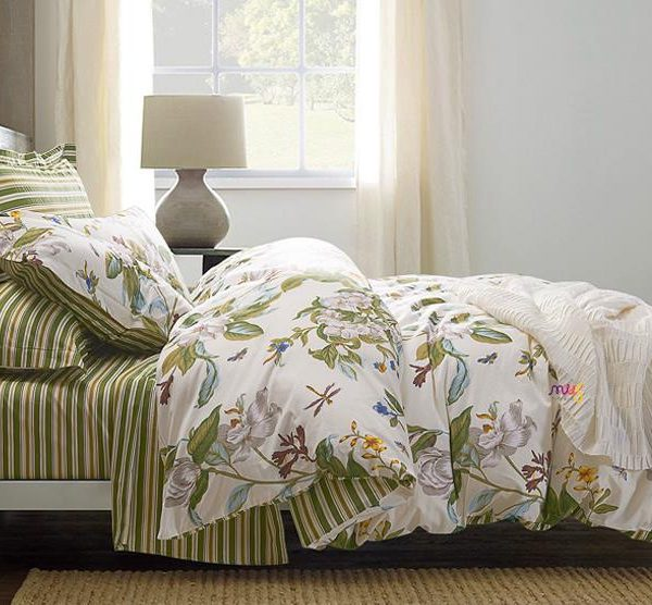 Blooming Botanical Nature Cottage Country Style Duvet Cover Set