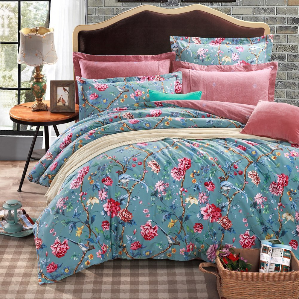 Eikei Botanical Garden Duvet Cover Washed Brushed 100